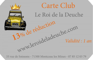 Carte Club Le Roi de la Deuche